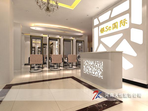 郑州理发店装修设计案例之银色国际造型机构,天恒原创作品