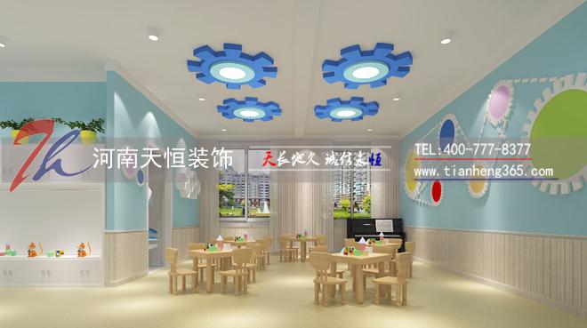 周口郸城幼儿园装修设计效果图(音乐教室)